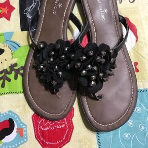 Montego Bay Club Shoes - Womens Sandals with Adorable Floral and Beads